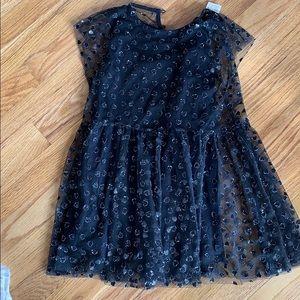Zara black tulle heart layered dress size 5